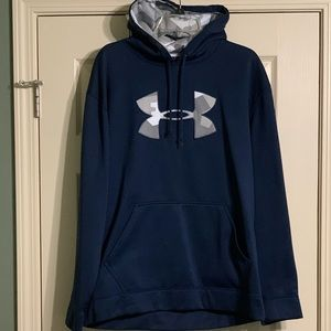 Under Armour Hoodie Blue Gray Large Men's